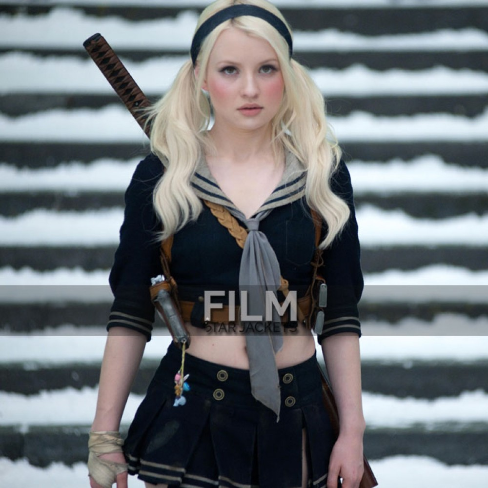 Sucker Punch Emily Browning (Baby Doll) Bomber Jacket