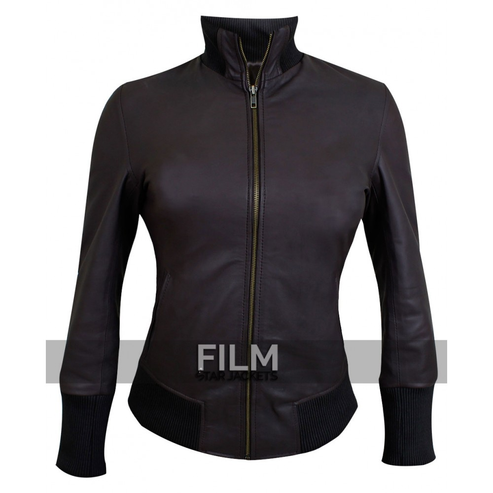 Emma Swan (Jennifer Morrison) Brown Lambskin Jacket