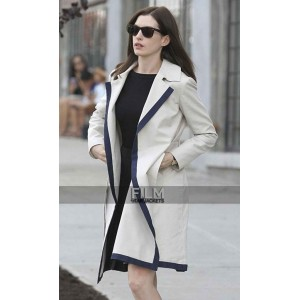 The Intern Anne Hathaway (Jules Ostin) White Trench Coat