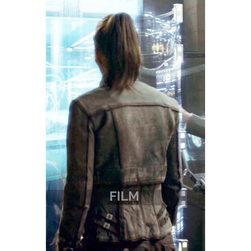 Jessica Biel Total Recall Melina Leather Jacket