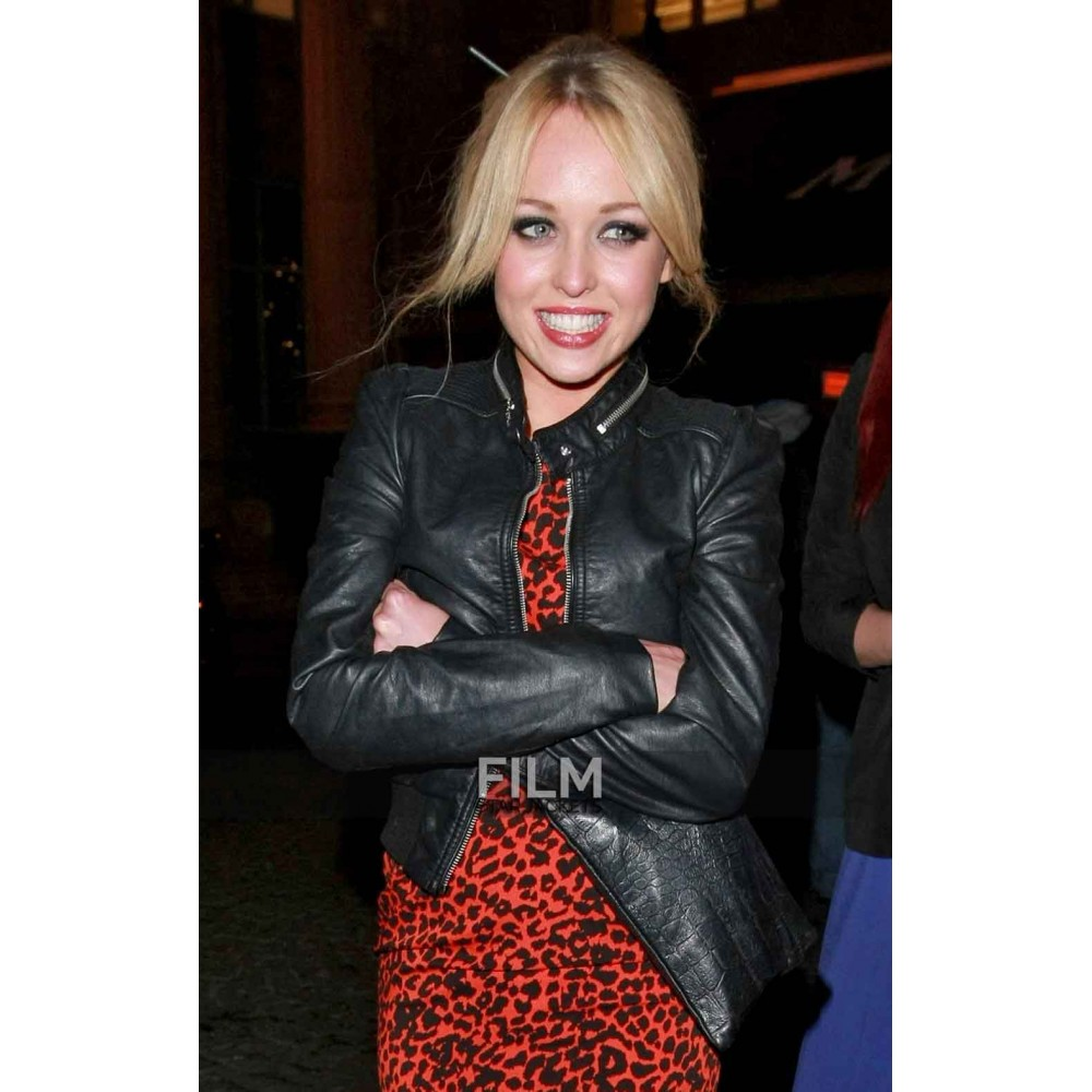 Jorgie Porter Gloomy Black Leather Jacket