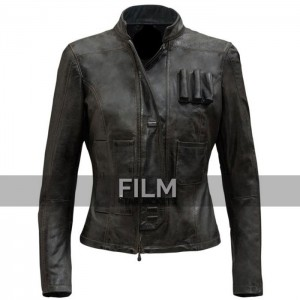 Star Wars Force Awakens Han Solo Leather Jacket For Women