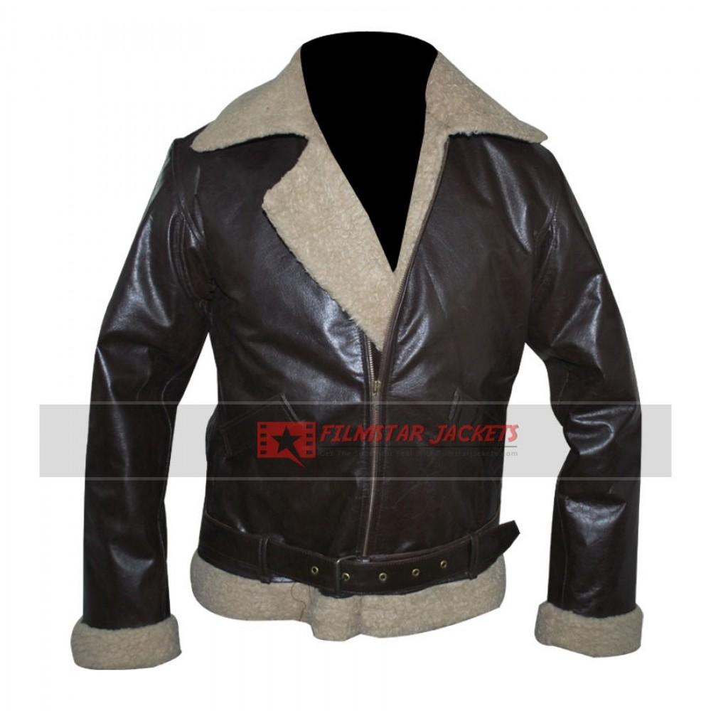 Rocky IV Balboa Shearling Winter Bomber Leather Jacket