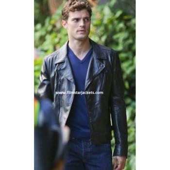 Fifty Shades Of Grey Jamie Dornan Black Leather Jacket