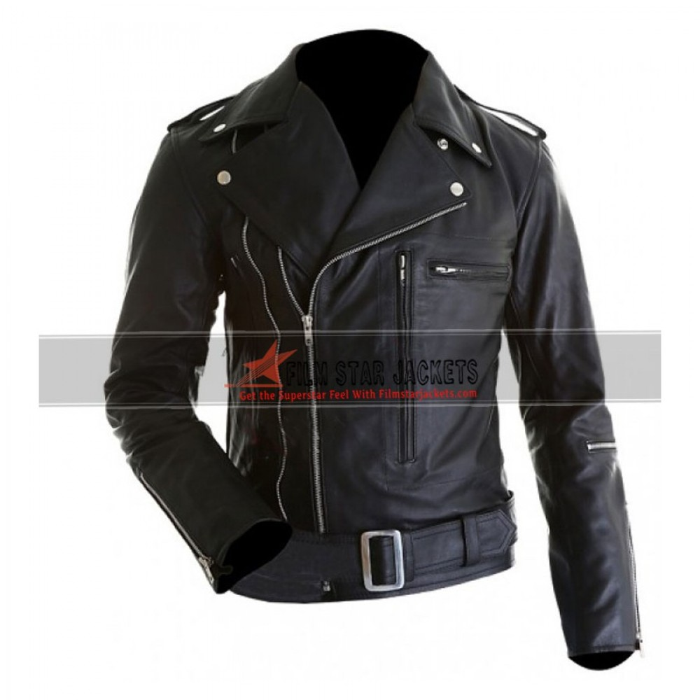 Terminator 2 Arnold Schwarzenegger Leather Jacket