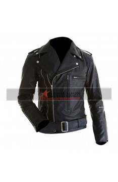 Terminator 2 Arnold Schwarzenegger Leather Jacket