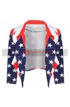 Womens American Flag Jacket