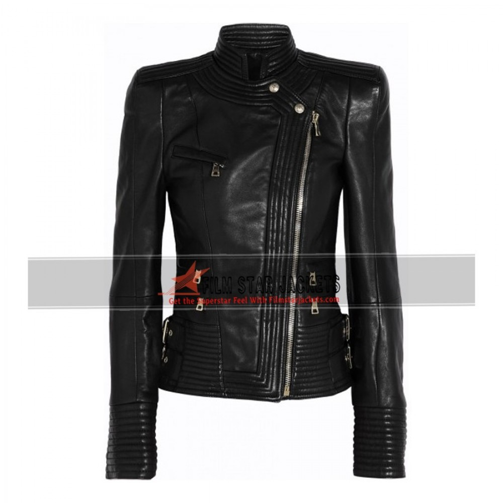 Kesha Black Leather Jacket