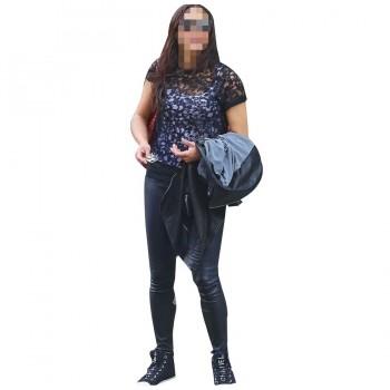 Paula Patton Leather Pants