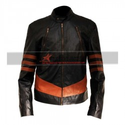 X-Men Wolverine XO Black Leather Jacket For Men