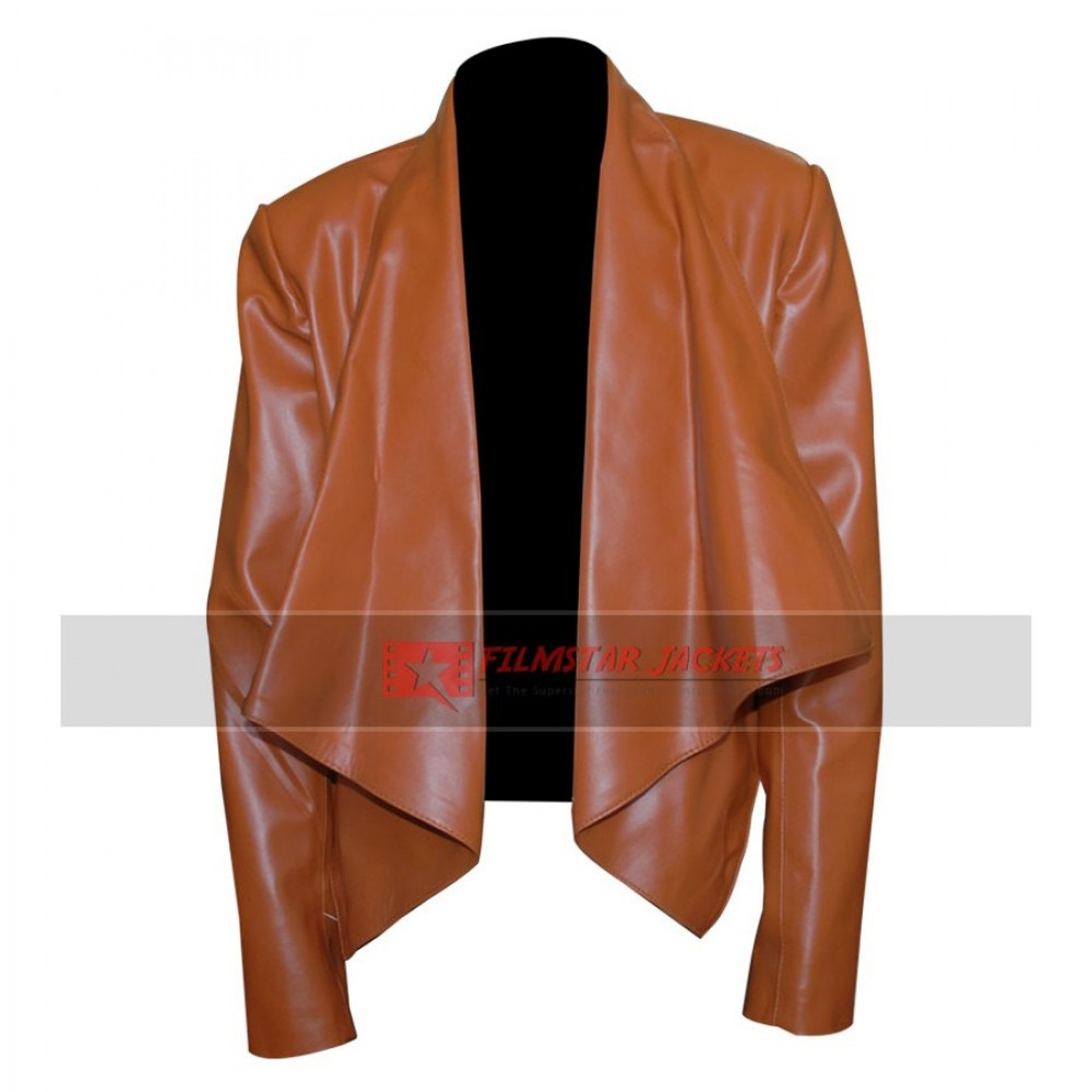 2 Broke Girls: Beth Behrs Brown Jacket