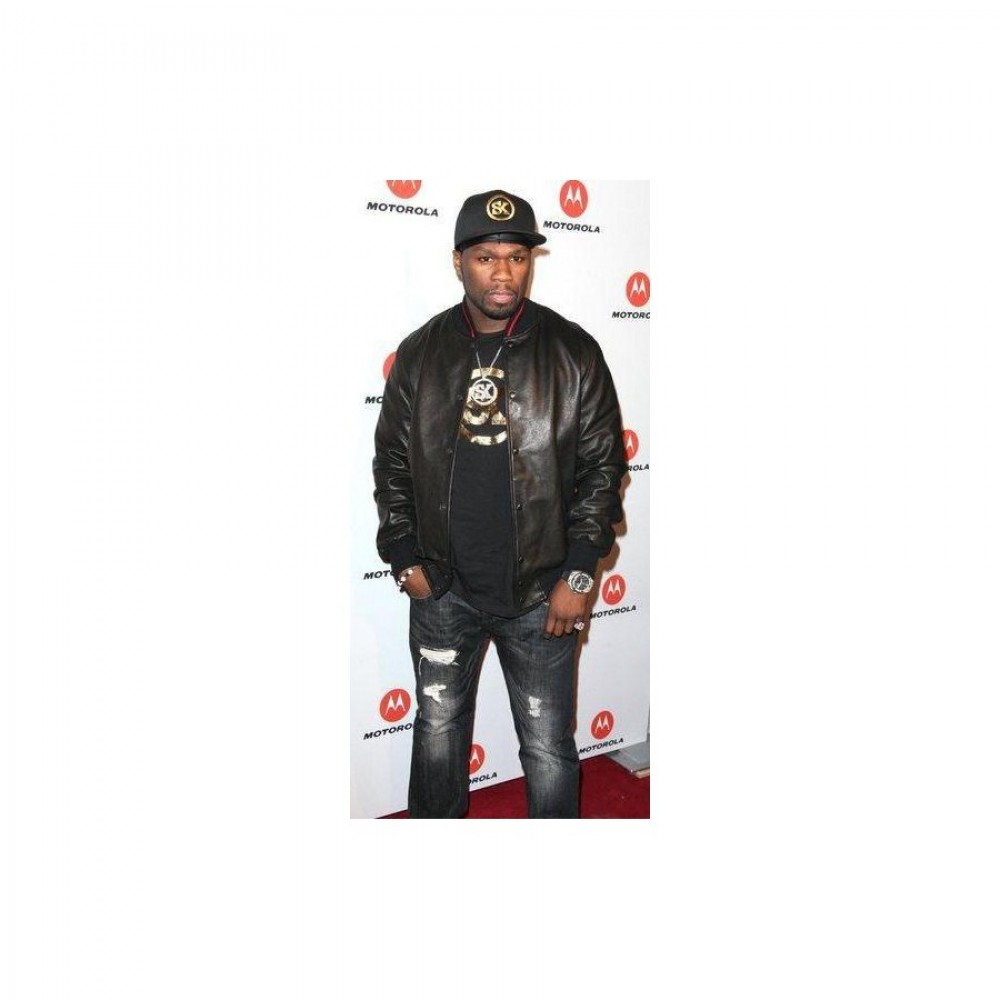 50 Cent Black Leather Jacket