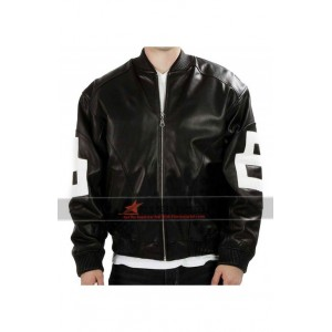 8 Ball Bomber Leather Jacket