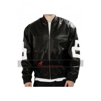 8 Ball Bomber Leather Jacket