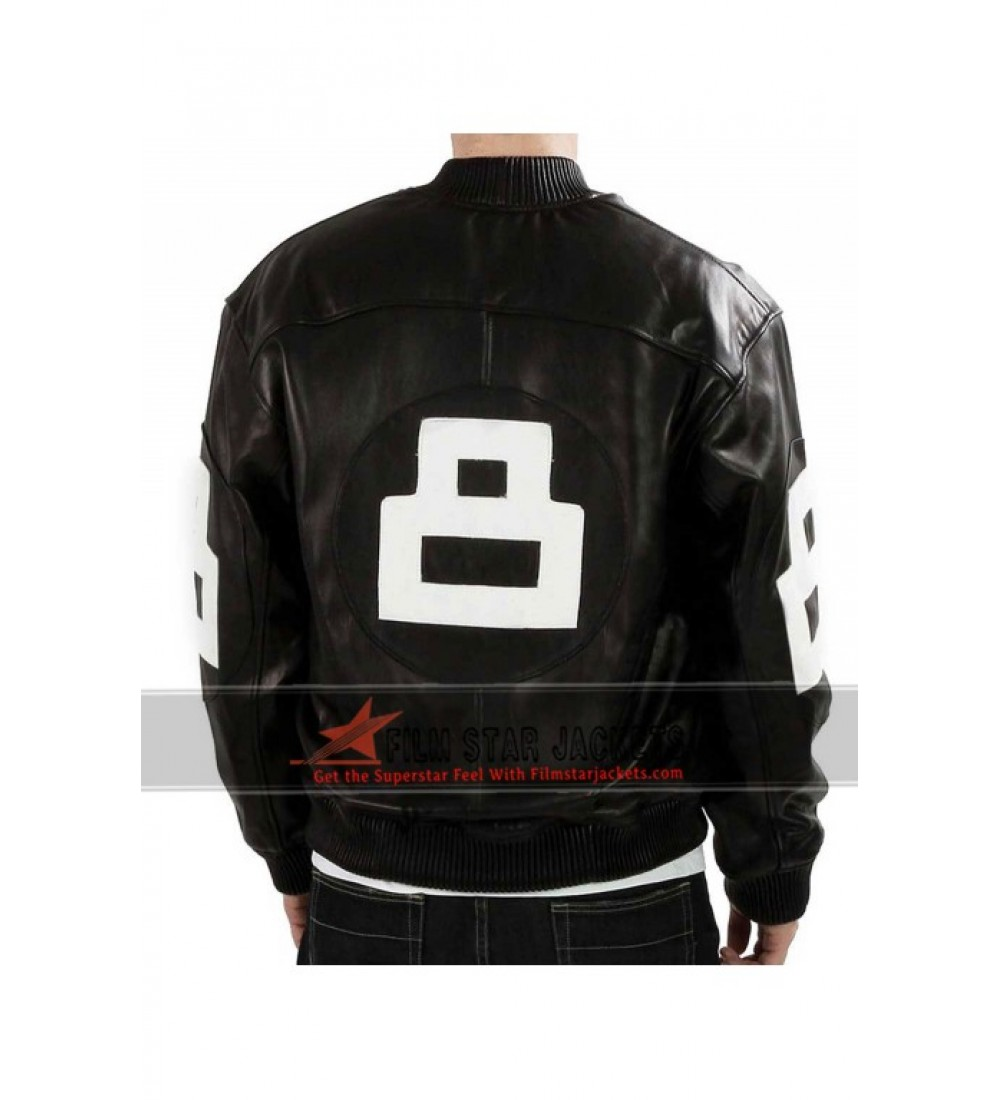 Eight ball leather jacket