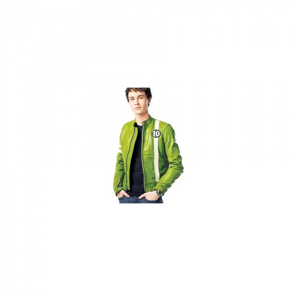 Ben 10 Ryan Kelley Green Cartoon Jacket Costume