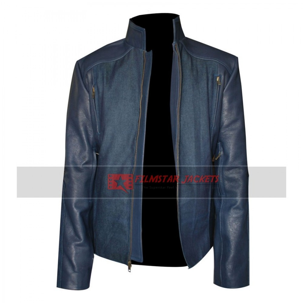 Captain America Winter Soldier Chris Evans Blue Jacket