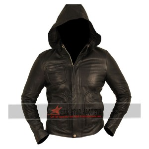Mission Impossible 4 Tom Cruise Hooded Leather Jacket