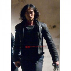 Ninja Assassin Rain (Raizo) Black Leather Jacket