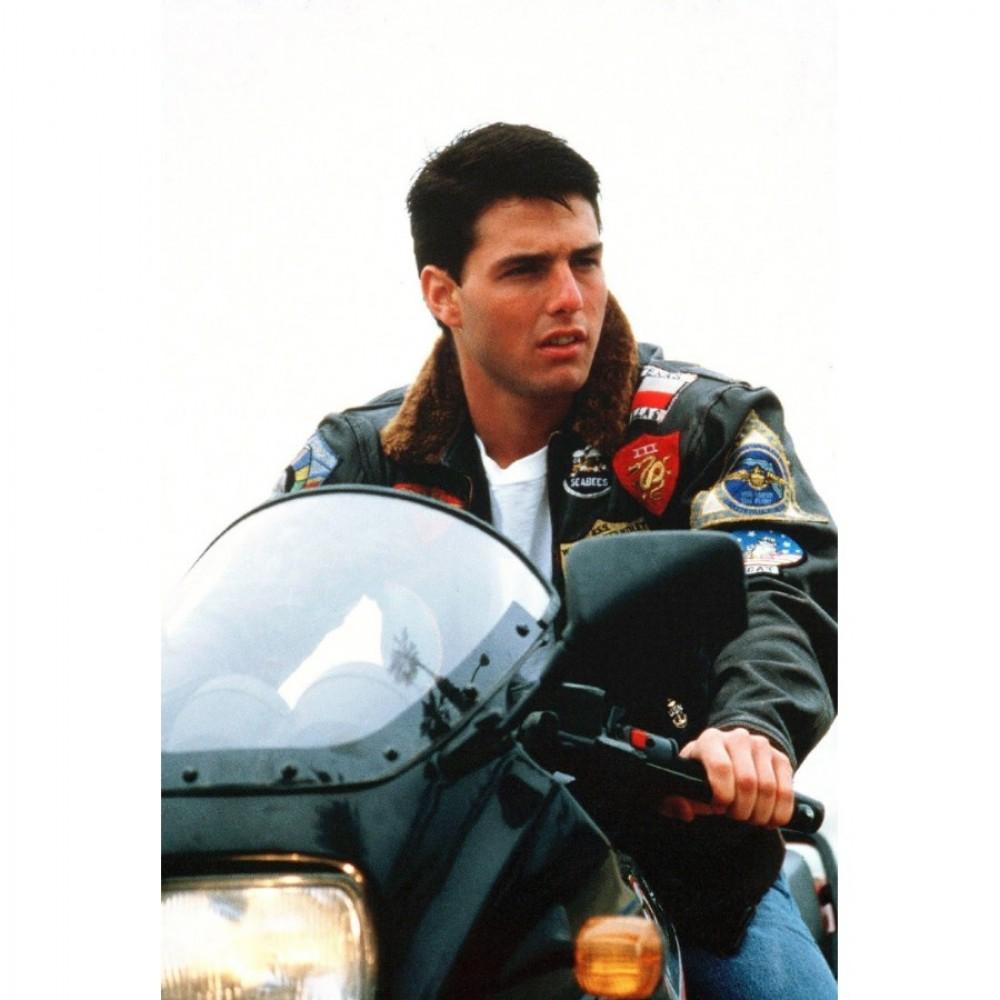 Top Gun Tom Cruise Bomber Flight Jacket