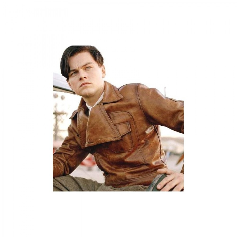 Aviator Leonardo Dicaprio (Howard Hughes) Brown Jacket