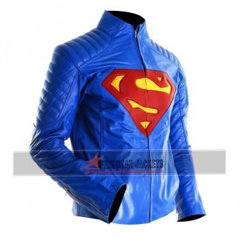 Superman Smallville Blue Leather Jacket