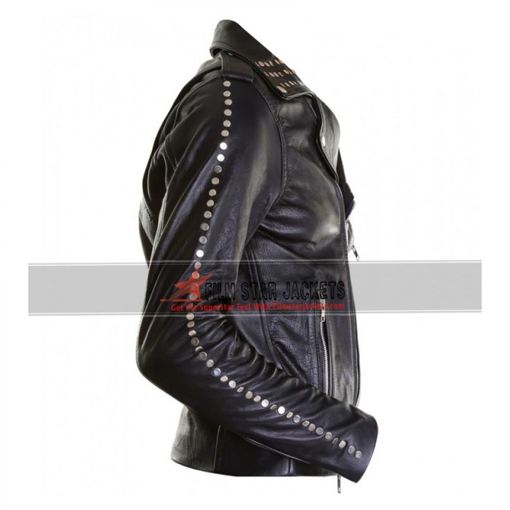 Justin Bieber All Around The World Black Leather Jacket