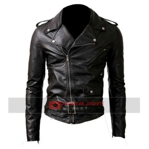 Belted Rider Black Jacket
