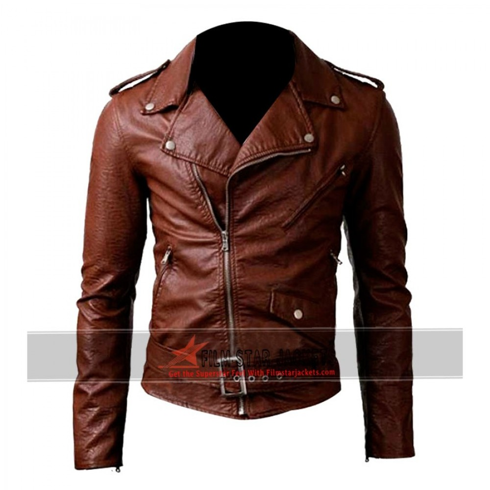 Belted Rider Brown Leather Jacket