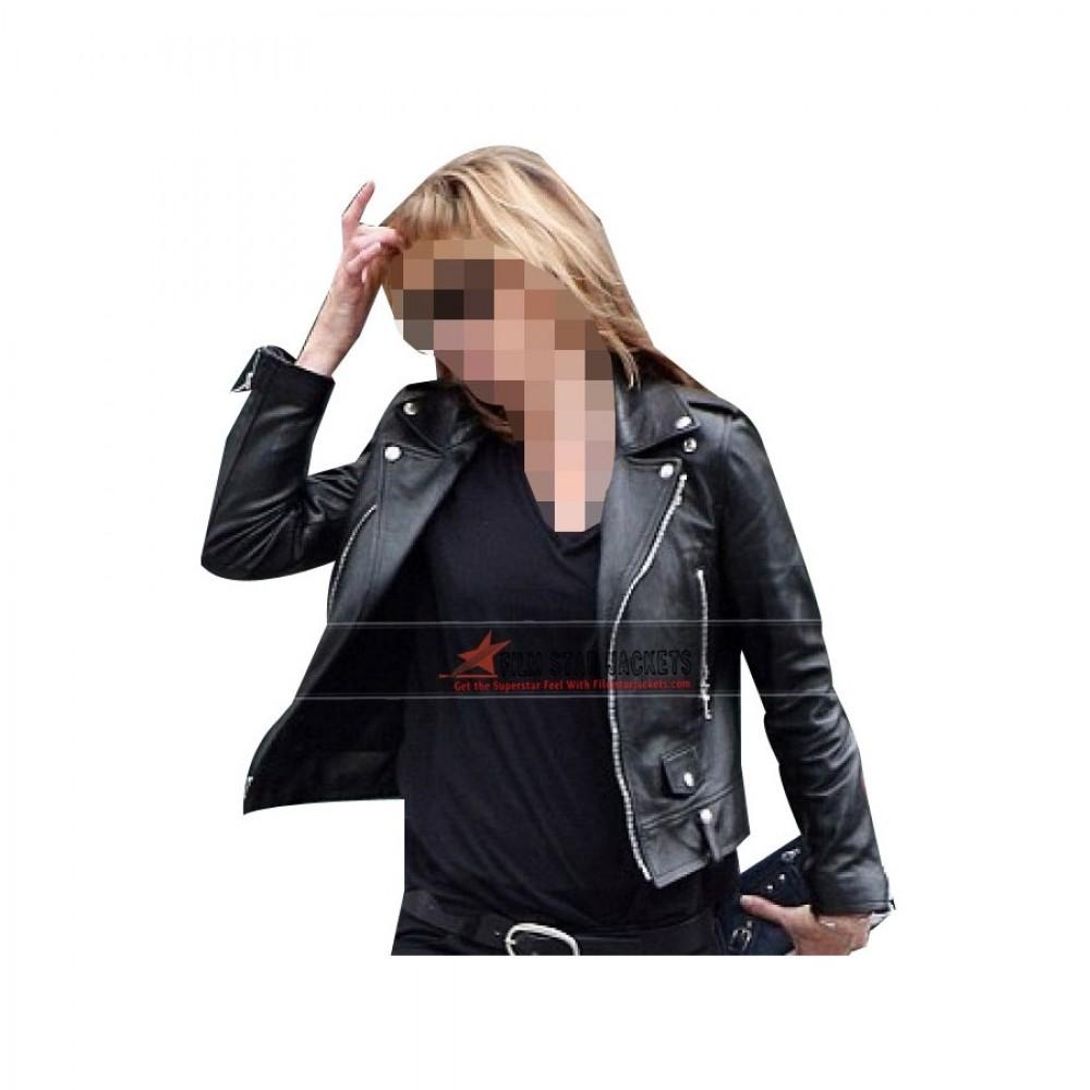Kate Moss Black Biker Jacket