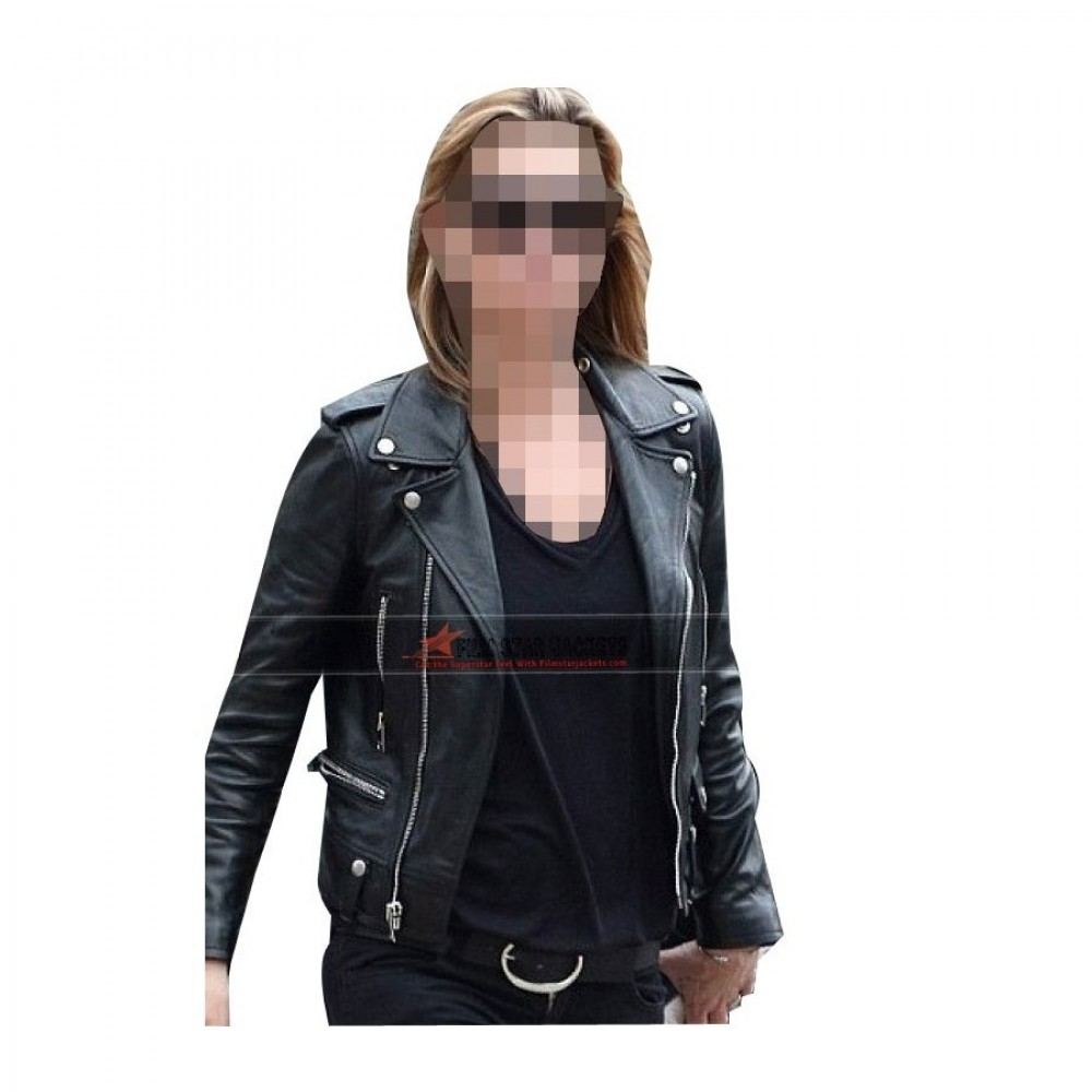 Kate Moss Black Biker Jacket