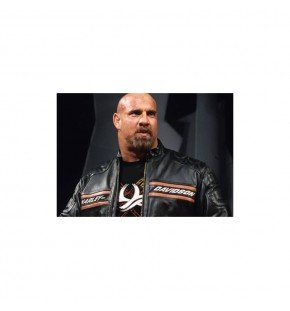 Bill Goldberg Harley Davidson Biker Leather Jacket
