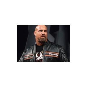 Bill Goldberg Harley Davidson Biker Leather Jacket