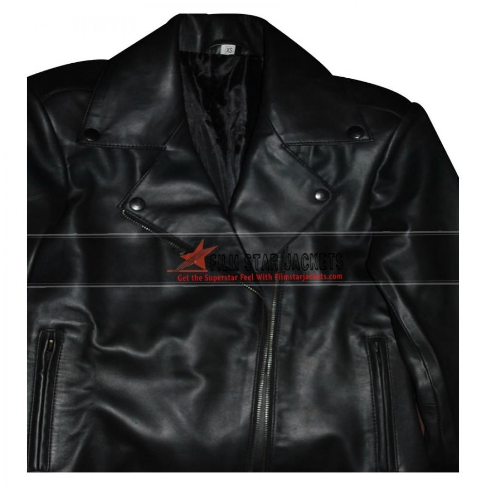 Kim Kardashian Black Biker Jacket