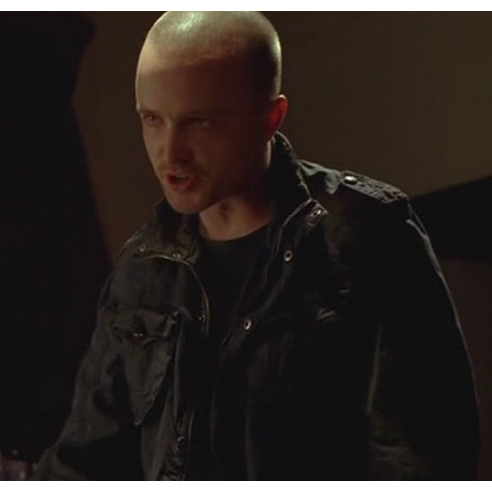 Breaking Bad Season 4 Jesse Pinkman (Aaron Paul) Black Jacket