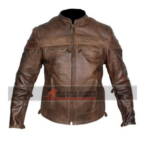 Cafe Racer Brown Biker Jacket