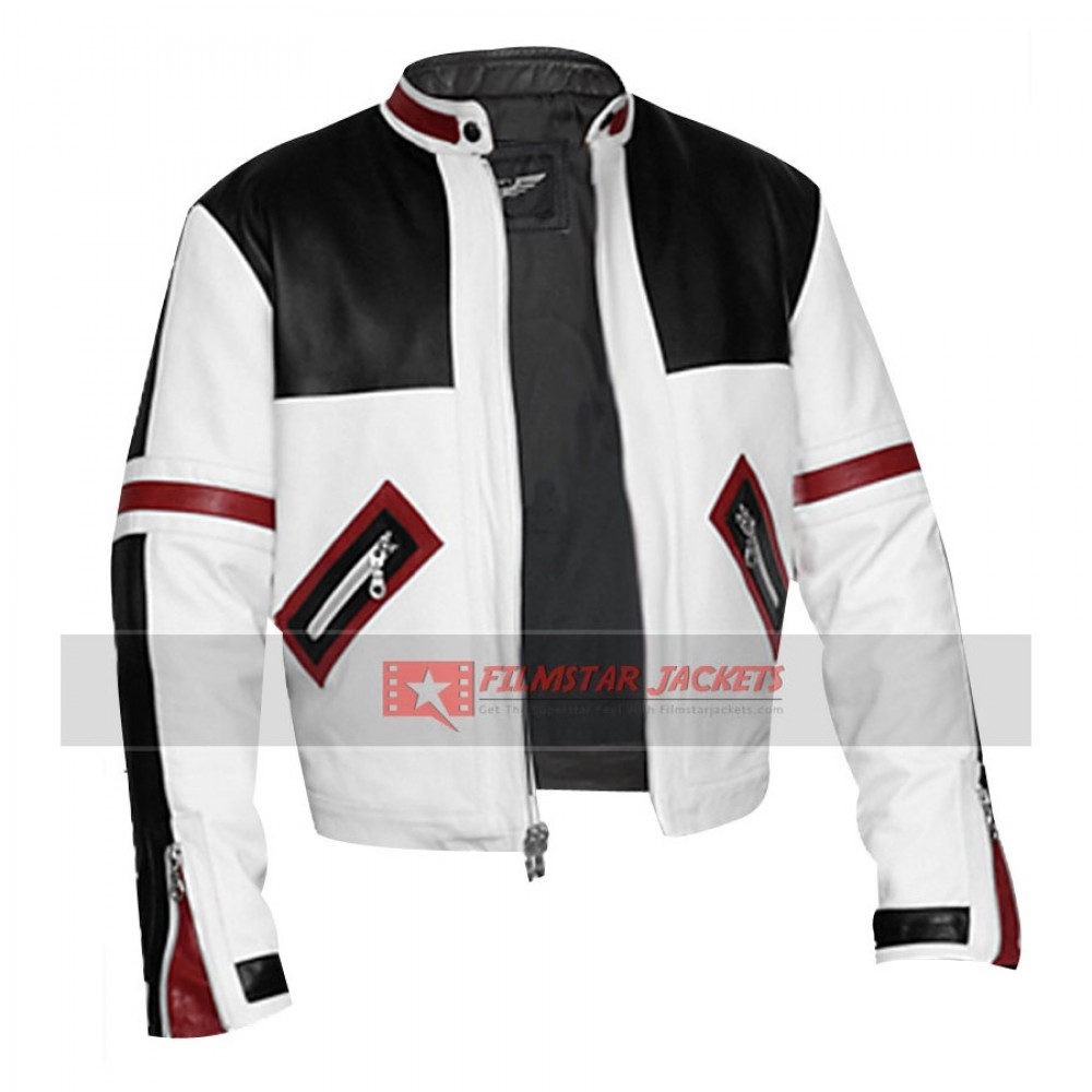 Chaser Box Black White Biker Jacket
