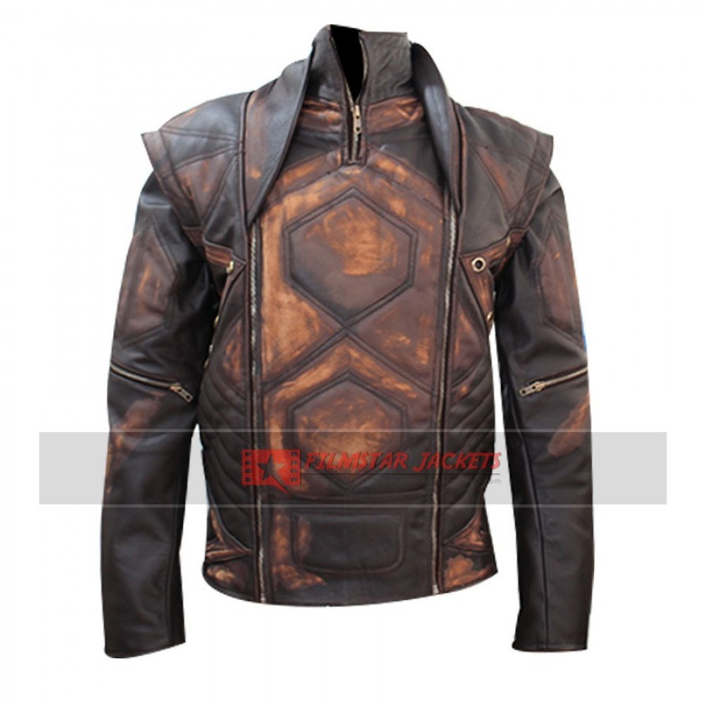 Copper Distressed Vintage Brown Jacket
