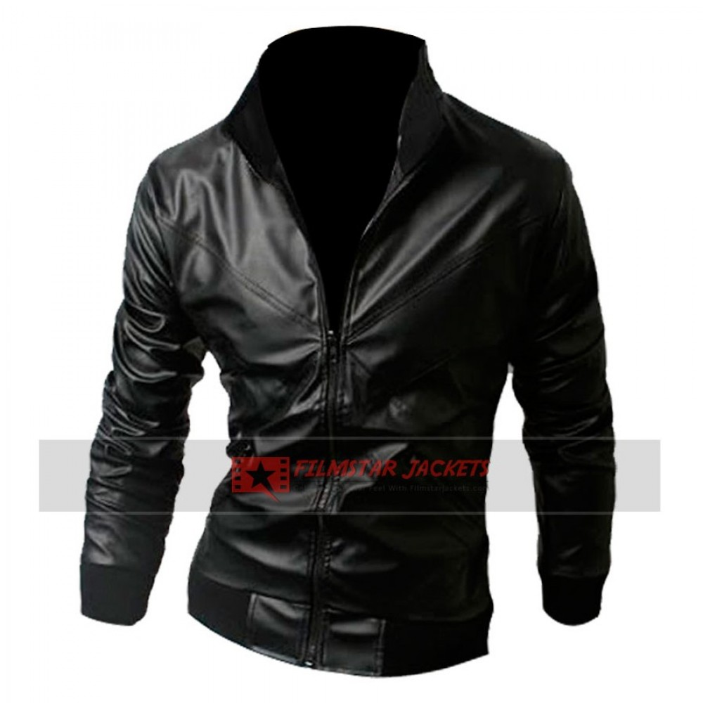 Cross Front Slim-fit Rider Jacket