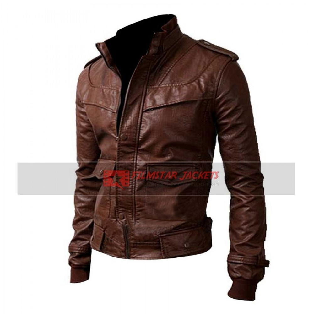 Dark Brown Slim-fit Jacket
