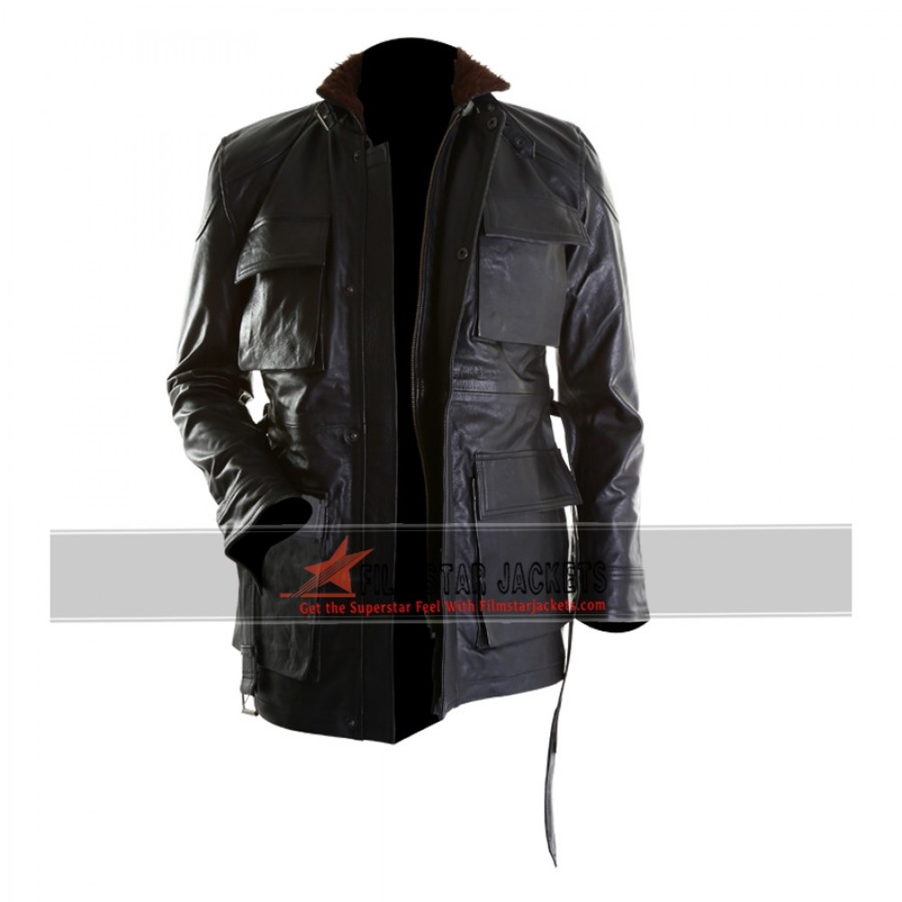 Bane Black Long Leather Jacket From Dark Knight