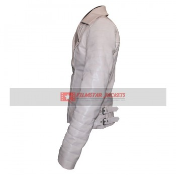 Dr Who Amy Pond White Leather Jacket