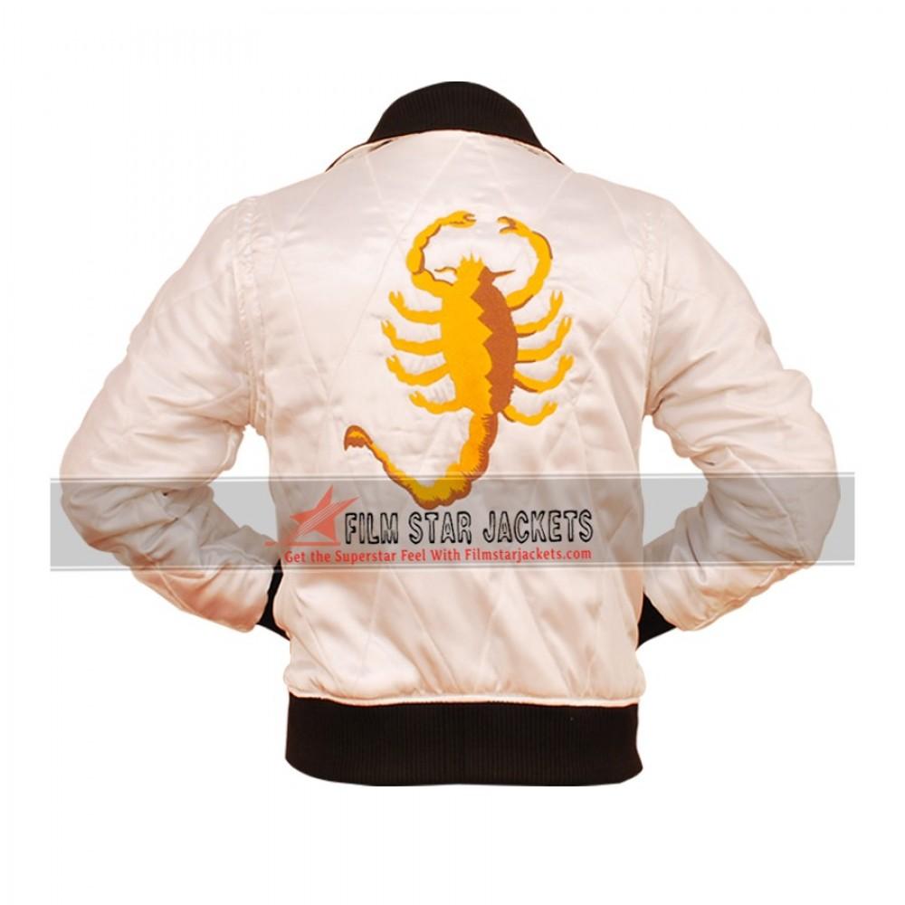 Drive White Scorpion Jacket (Ryan Gosling)