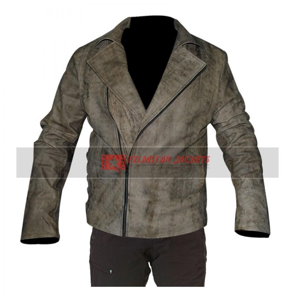 Escape From LA Snake Plissken Distressed Leather Jacket
