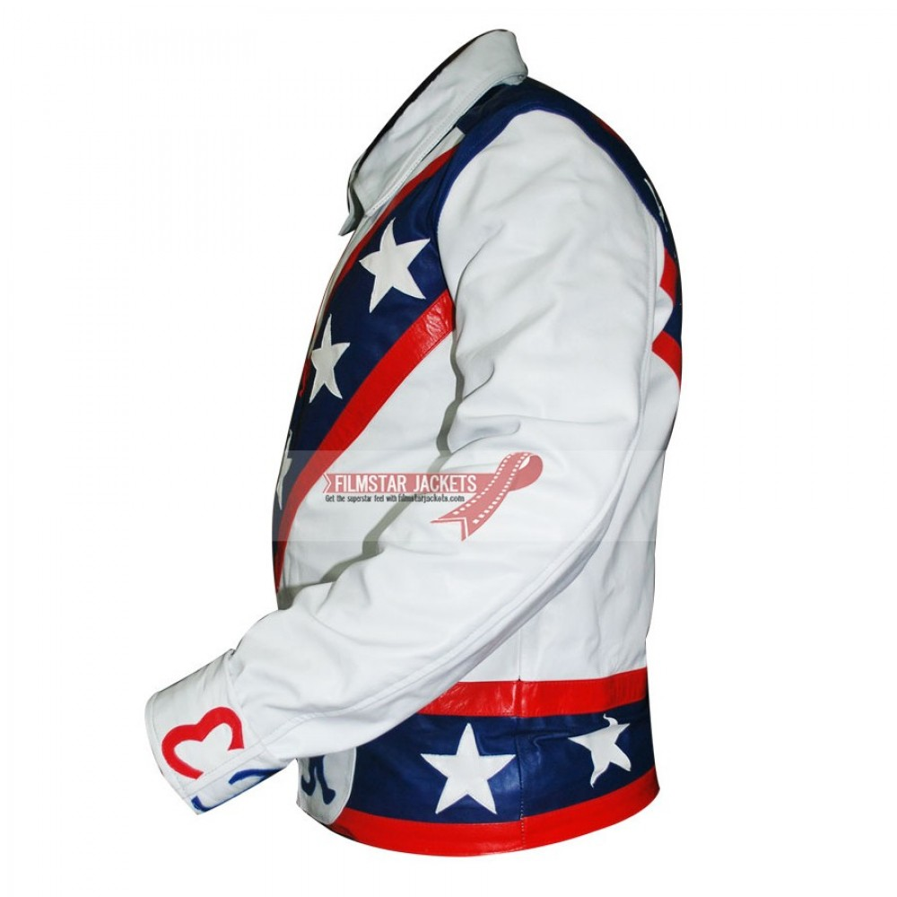Evel Knievel Motorcycle White Jacket