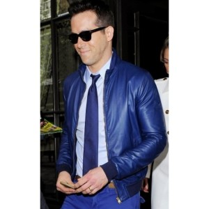 Exclusive Design Ryan Reynolds Blue Jacket
