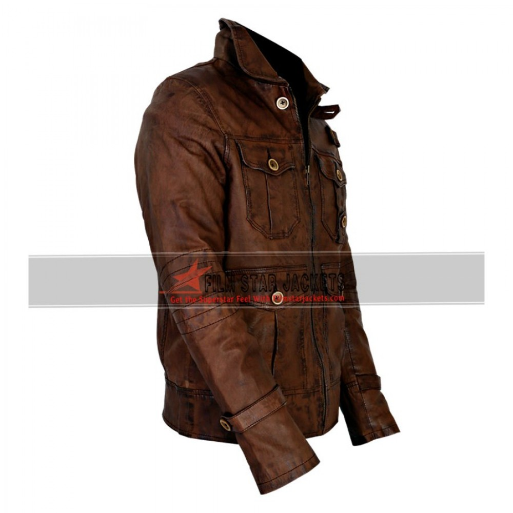 The Expendables Jason Statham Distressed Jacket