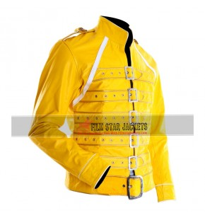 Freddie Mercury Yellow PU Leather Jacket