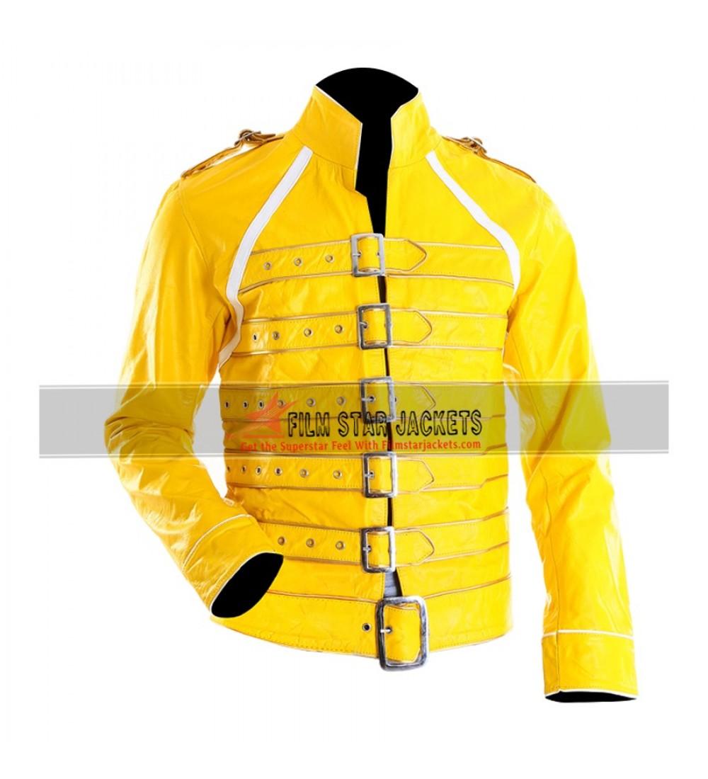 buy freddie mercury yellow jacket yellow costume freddie mercury yellow leather costume jacket