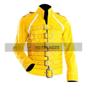 Freddie Mercury Yellow Leather Costume Jacket